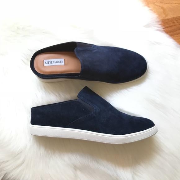 ebdf3540224 NEW Ezekiel Navy Suede Platform Slip On Sneaker